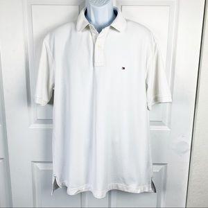 Tommy Hilfiger White Cotton Polo Shirt